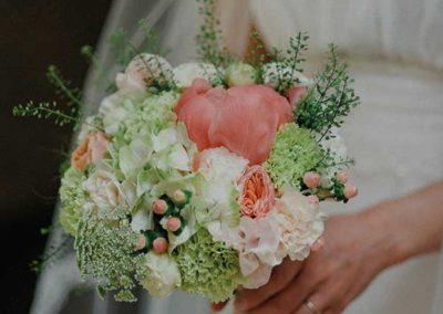 Bouquet de mariée succulente