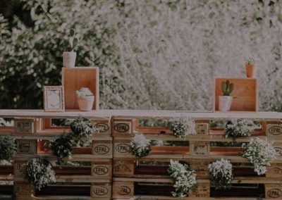 Décoration de buffet - Mariage